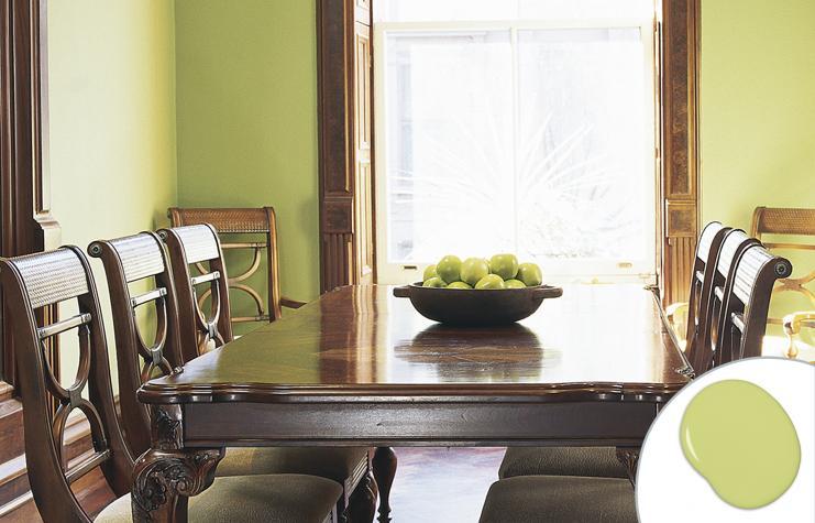 τραπεζαρία πράσινο χορταριού