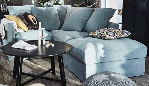 καναπές για μικρό σαλόνι