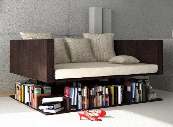πολλαπλή χρήση καναπές βιβλιοθήκη