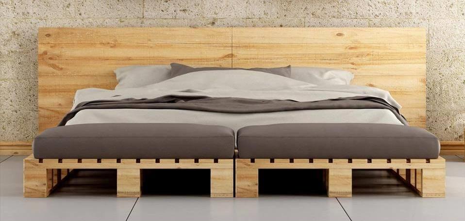 κρεβάτι από παλετες