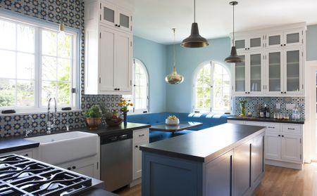 κουζίνα μπλε