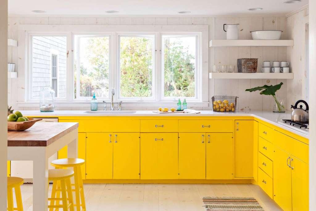 κίτρινη κουζίνα
