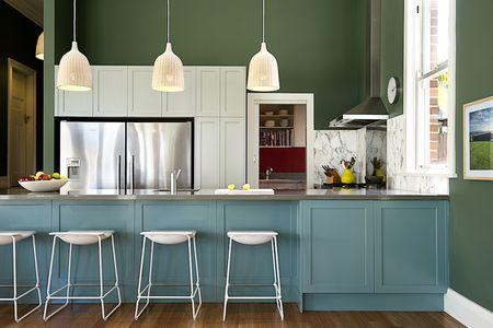 πράσινη κουζίνα