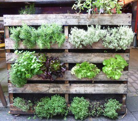 παλέτα για κήπο