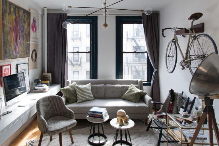 minimal design μικρο σαλόνι