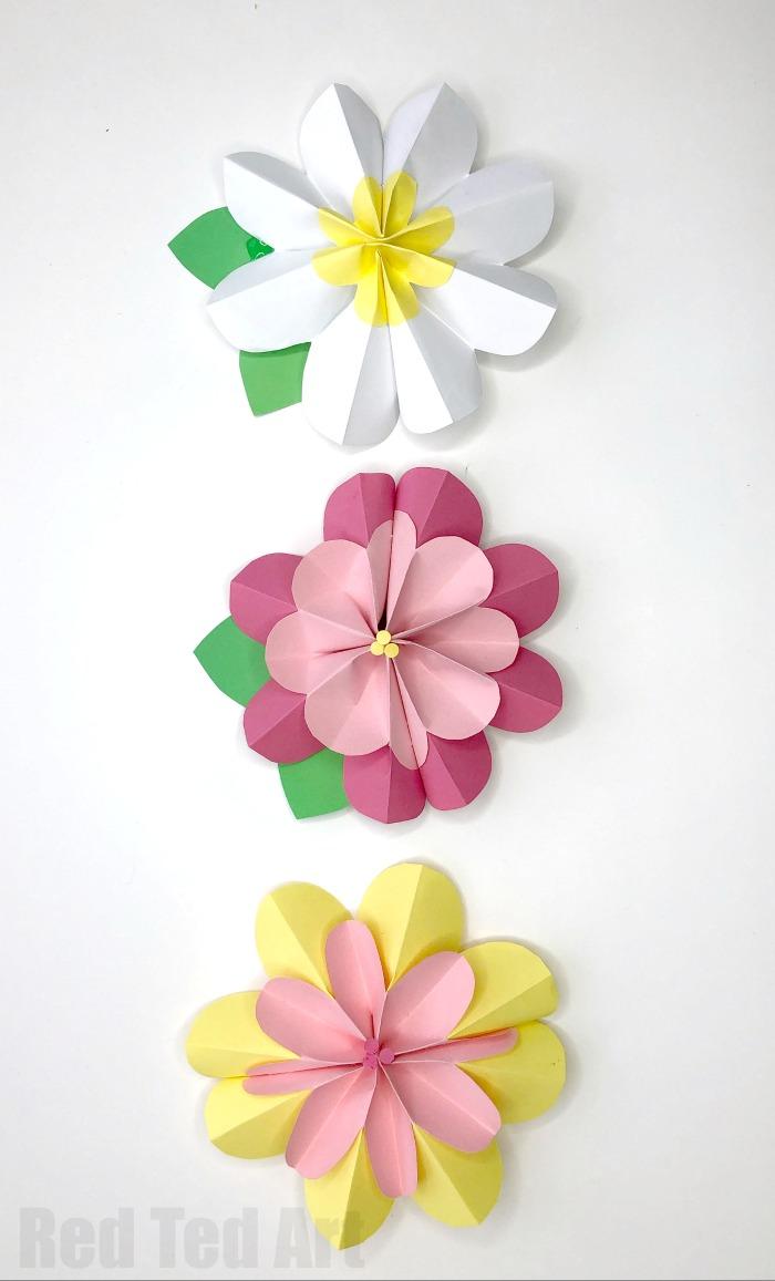 ανοιξιάτικες διακοσμητικές ιδέες χάρτινα φυτά