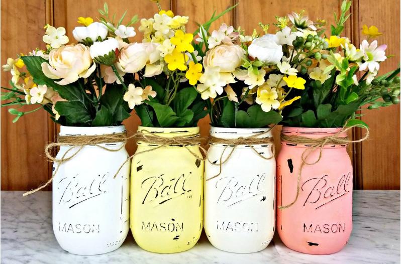 ανοιξιάτικες διακοσμητικές ιδέες λουλούδια παντού