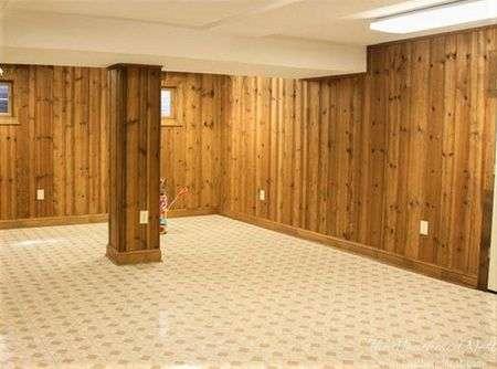 υπόγεια πριν και μετά ξύλινη επένδυση
